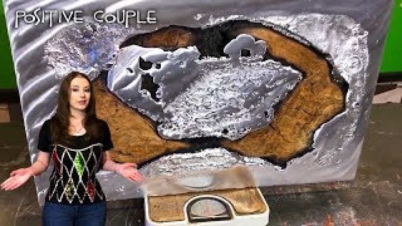 Pouring Molten Aluminum in Oak! Epic Table of Wood Aluminum and Epoxy. Заливка алюминия в дерево!
