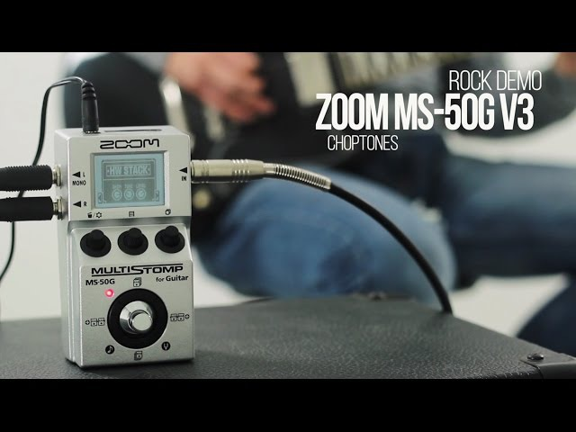 Zoom MS-50G Multistomp | Software Update v3 | Rock Demo Playthrough