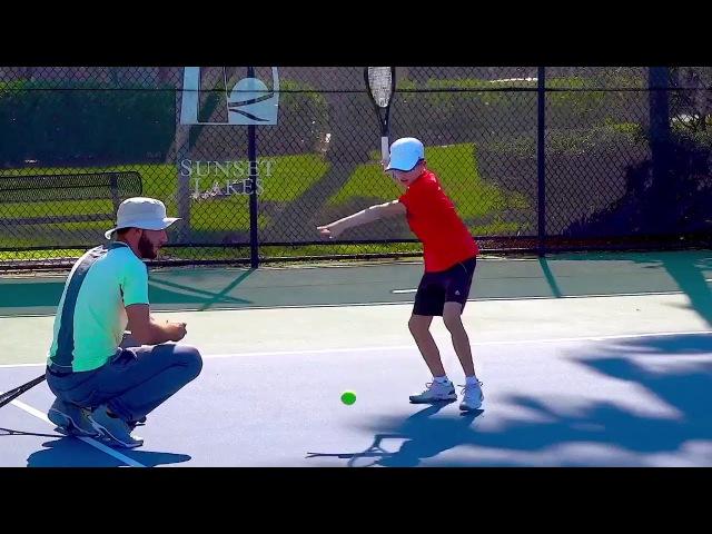 Tennis Forehand Drill For Kids: USTA Net Generation