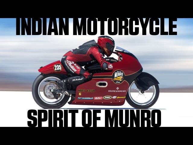 Indian Motorcycle Spirit Of Munro Chases 200 mph at Bonneville