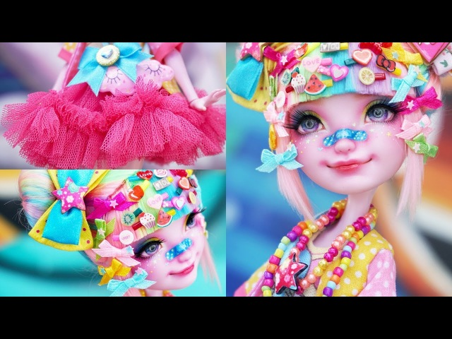 Decora Kei Girl 🌈 Special Collab w Babi Time | Custom EAH Doll Repaint | Mozekyto 8