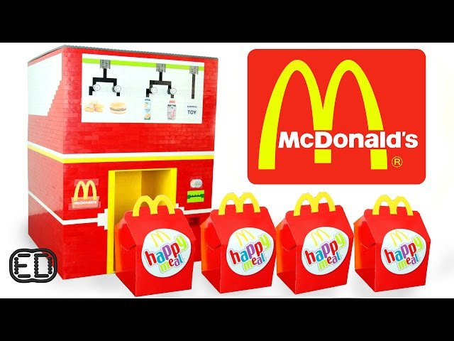 The LEGO McDonald's Happy Meal Maker | Chicken Nuggets, Hamburgers SURPRISE Toy