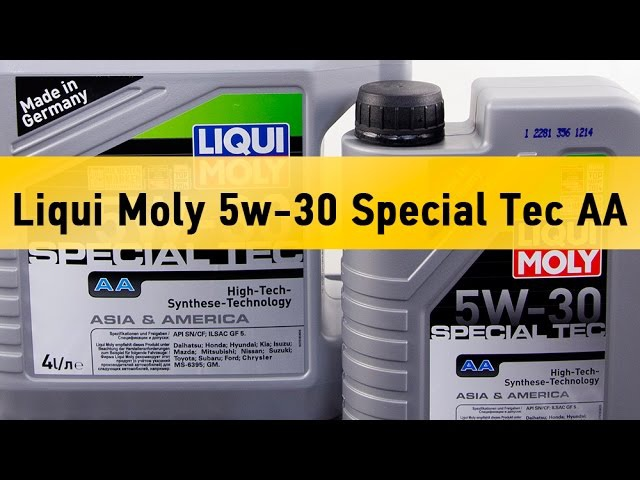 Моторное масло Liqui Moly 5w-30 Special Tec AA