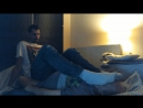 Tall-Dude size 13 usa,Foot on Face-Domination in Dirty White Socks and Bare-Feet