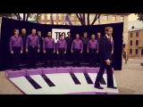 Живое пианино - Человеческий хор _ Le piano vivant - Living Piano (смех, юмор, хорошее настроение, отпад, уличное шоу)