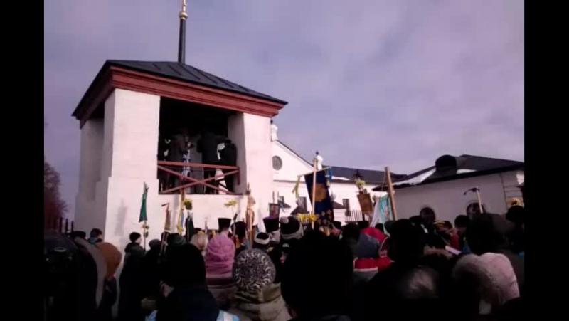Освящение копии ссыльного колокола в Тобольске Live фрагмент