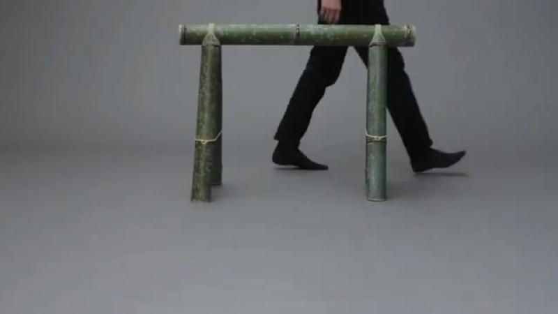Soba bamboo furniture by Stefan Diez