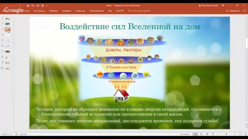 2017.11.28 Ведические знания для силы домашнего очага. Светлана Наумова