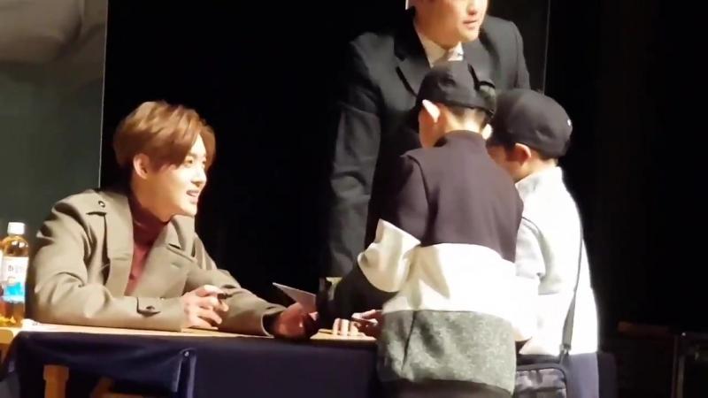 2018014 Sign Event in Seoul ~ 대전사인회에서 나온 귀여운 아들팬들