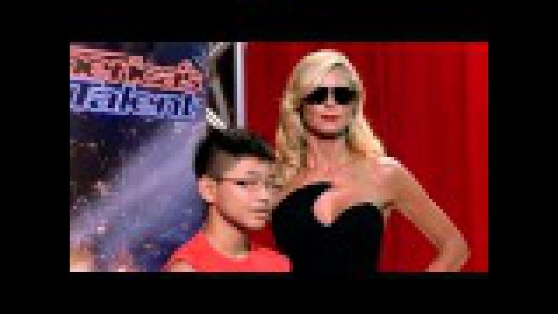 Heidi Klum, Mel B Howie Mandel Play a Wax Figure Prank America's Got Talent 2015