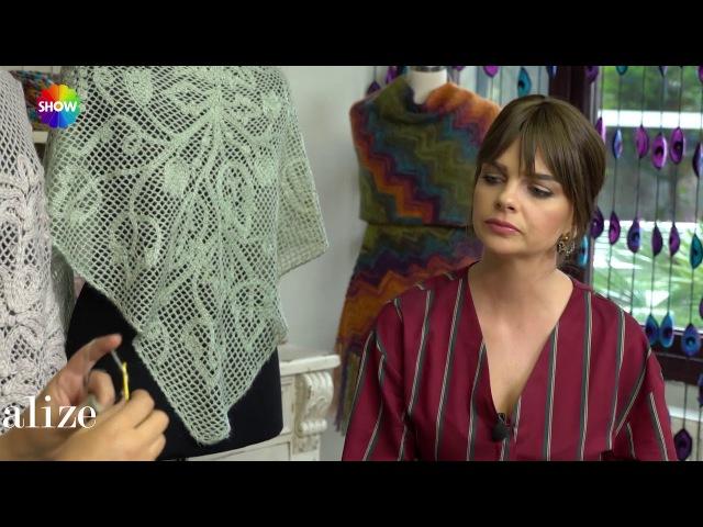 Alize Angora Gold ile Şal Yapımı- Making Knitting Shawl with Alize Angora Gold