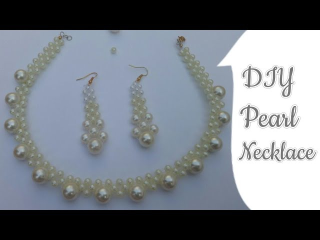Pearl Necklace|How to make Necklace with Pearl|Choker Necklace|Pearl beads Necklace|Wedding Necklace