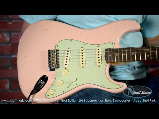 Fender NAMM Limited Edition 1963 Journeyman Relic Stratocaster - Aged Shell Pink