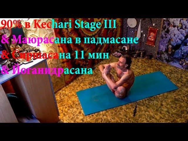 90% в Kechari Stage III Маюрасана в падмасане Сиршасана 11 мин Йоганидрасана 17.12.2017