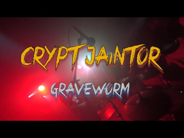 Crypt Jaintor — Graveworm (Drumcam) — Live, 2017, LES Club / One Guitar
