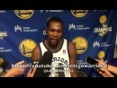 Entire DURANT postgame, on heckler: I'm glad the ref got his ass , Blazers just hit shots