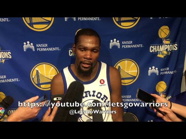 Entire DURANT postgame on heckler I'm glad the ref got his ass Blazers just hit shots