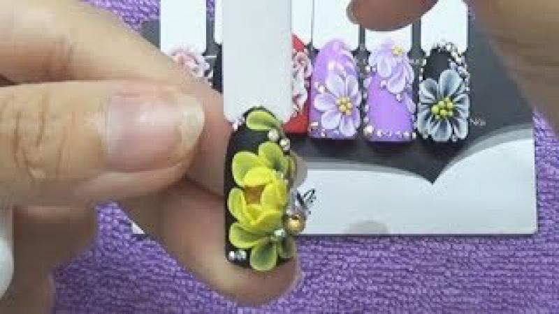 Video dạy học cách đắp hoa bột nổi 3D đắp hoa nổi 3D nâng cao 7