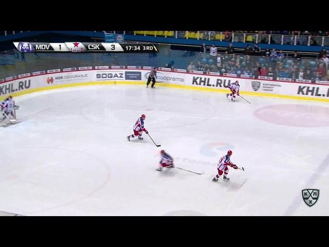 Моменты из матчей КХЛ сезона 16/17 • Удаление. Безина Горан (Медвешчак) удален на 2 минуты за толчок на борт 04.10