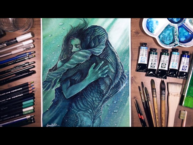 The Shape of Water - watercolor painting | drawholic