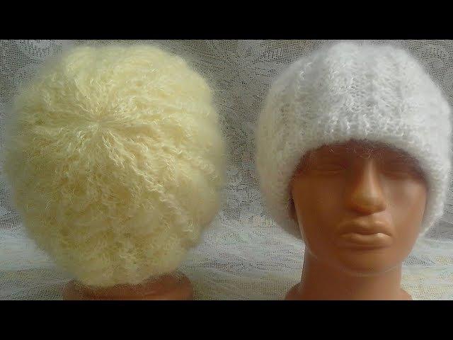 Вяжем. Очень КРАСИВУЮ, двойную зимнию шапочку.