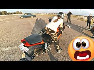 ДЕВУШКА ЧУТЬ НЕ УПАЛА на мотоцикле за 500 000 рублей - Пустила слезы