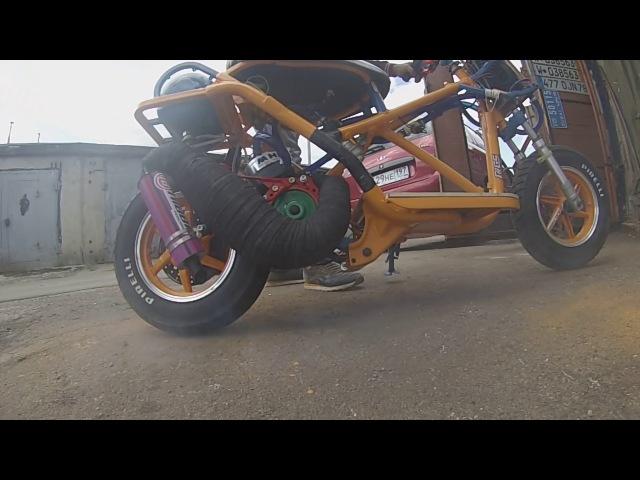 Корч, на базе Хонда tact 24, Сборкаобзор.Custom Honda 125cc! Балалайка 12