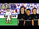 💔MCN BAD BROMANCE!💔 3 1 Real Madrid vs PSG Champions League 2018 Goals Highlights Parody