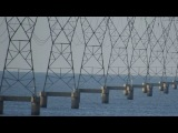 Driving East To West Past Lake Pontchartrain Transmission Lines (Zoom InOut) - (Debunk Flat Earth)