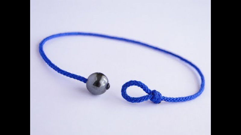 How to Make a Simple Bead and Loop Friendship Bracelet-Shamballa Style