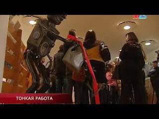 В Волгограде показали, как нарисовать глаза на лице величиной со спичечную голо ...