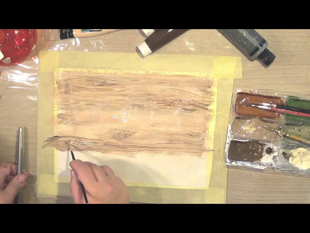 Имитация дерева красками [1]