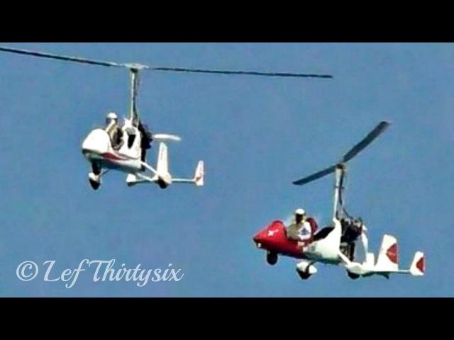 [HD] Two Magni Gyro M14 - Lecce Airshow 2017 [Full Display]