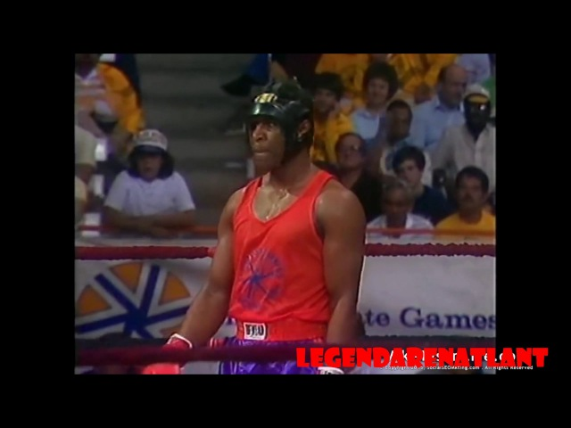 Олимпийские игры. Майк Тайсон нокаутировал Уинстона Бента 1983г. Эмпайр Стейт