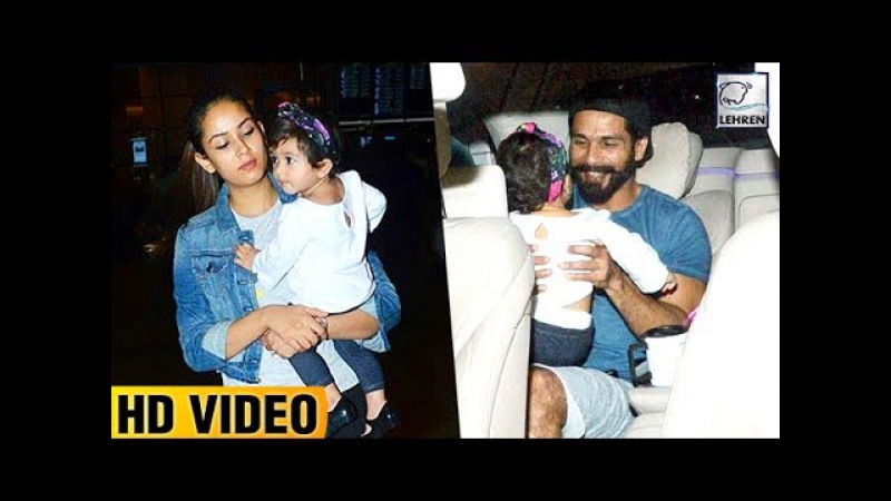 Mira Rajput And Misha Looks Happy When Shahid Surprised Them At Airport | LehrenTV