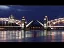 Белая ночь. Развод Большеохтинского моста