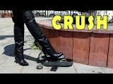 Crush fetish and Ethnic Song in Platform Overknee High heels Boots Gianmarco Lorenzi Size 39