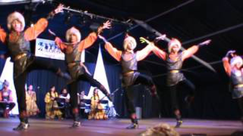 Башкирский танец на фестивале в Испании.