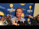 Steve Kerr Postgame Interview | Warriors vs Raptors | January 13, 2018 | 2017-18 NBA Season