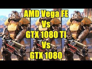 Fallout 4 AMD Frontier Edition Vs GTX 1080 TI Vs GTX 1080 Frame Rate Comparison