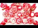 红萝卜玫瑰的做法 15 How To Make Red Radish Flowers Garnish Design Red Radish Rose Swan Duck