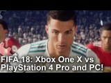 [4K] FIFA 18 Xbox One X vs PS4 Pro vs PC Graphics Comparison