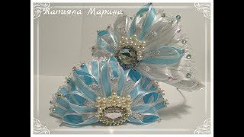 МК Новогодние короны из узкой ленты/ New Year Crowns/ Coroas de Ano Novo