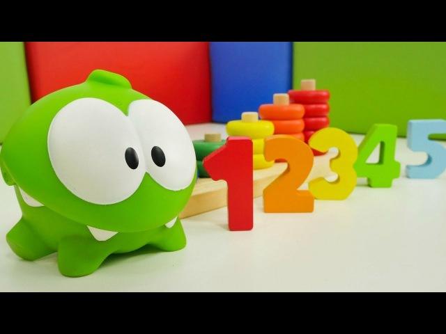 Zahlen lernen mit OmNom. Video für Kinder.