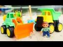 Мультики про Машинки. Каток и Трактор сажают деревья