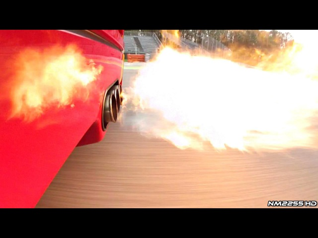 Ferrari F40 with Tubi Style Exhaust Spitting Flames OnBoard!!