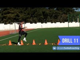 Football coaching video - soccer drill - ladder coordination (Brazil) 11
