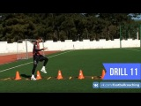 Football coaching video - soccer drill - ladder coordination (Brazil) 11