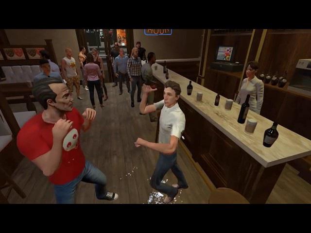Симулятор пьяной драки в баре. Drunkn Bar Fight. HTC Vive.18