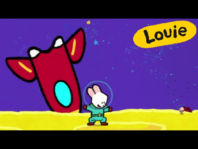 Cartoon for kids - Louie draw me a Rocket HD | Learn to draw